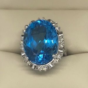 34.50 natural topaz 14k $16,000 replacement value